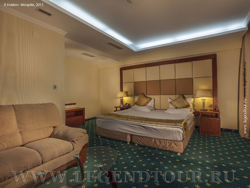 Pictures. Junior Suite. Kempinski hotel Khan Palace 4* in Ulaanbaatar. Mongolia.