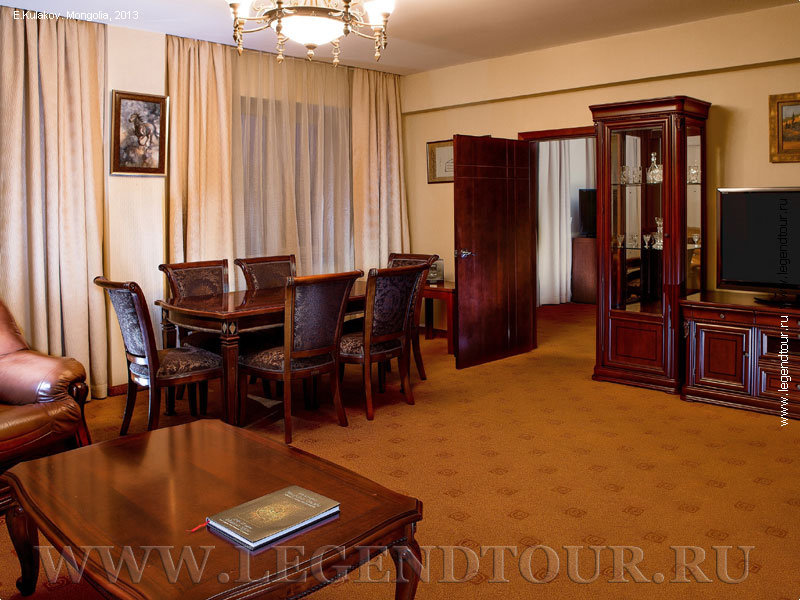 Pictures. Executive Suite. Kempinski hotel Khan Palace 4* in Ulaanbaatar. Mongolia.